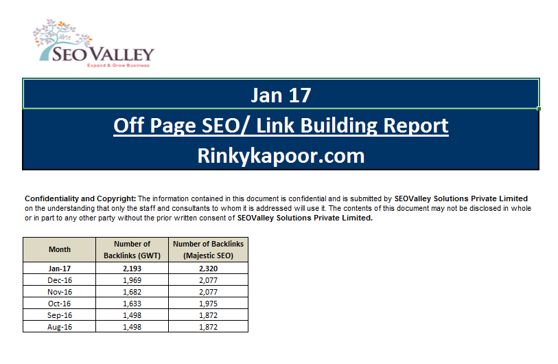 Sample Seo Reports Seo Checklist Seo Reporting  Seovalley